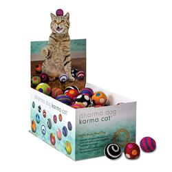 "Counter Display, 1.5"" Balls, Wool Cat Toys, 80 Assorted Toys"