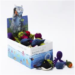 Counter Display, Aquatic Theme Wool Cat Toys, 60 Assorted Toys
