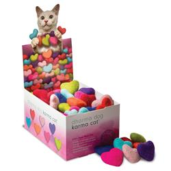 Counter Display, Heart Shaped Wool Cat Toys, 80 Assorted Toys