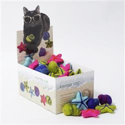 Counter Display, Beach Theme Wool Cat Toys, 60 Assorted Toys