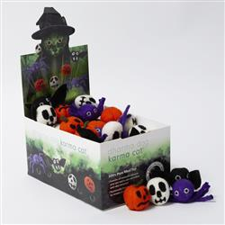 Counter Display, Halloween Theme Wool Cat Toys, 60 Assorted Toys