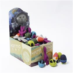 Counter Display, Space Cat Theme Wool Cat Toys, 60 Assorted Toys - COPY