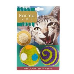 """1.5"""" Ball Wool Cat Toys, Pack of 2 Assorted Toys"""