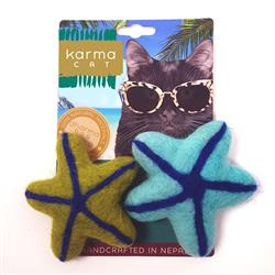 Starfish Wool Cat Toys, Pack of 2 Assorted Toys
