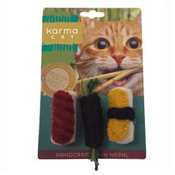 Sushi Wool Cat Toys, Pack of 3 Assorted Toys