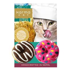 Donut Wool Cat Toys, Pack of 2 Assorted Toys