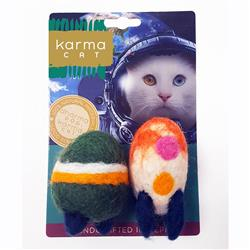 Rocket Wool Cat Toys, Pack of 2 Assorted Toys
