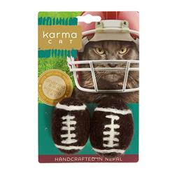 Football Wool Cat Toys, Pack of 2 Toys