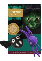 Bat & Spider Wool Cat Toys, Pack of 2 Assorted Toys