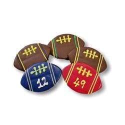"""Team Custom 5"""" Football Treats - Tray of 12 Bulk"""