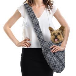 Susan Lanci Designs Cuddle Carrier - Charcoal Plaid