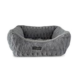 NANDOG CLOUD REVERSIBLE SHAGGY DOG PET BED - LIGHT GRAY