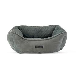 NANDOG CLOUD & MICRO-FLEECE REVERSIBLE DOG PET BED - LIGHT GRAY