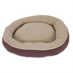 Aspen Pet® Round Bed with Bolster & Gold Cord