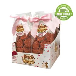 Pre-packaged Mini Hearts, 10/Case, You had me at WOOF! MRSP $7.49