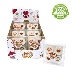 Pre-packaged Valentine's Peanut Butter Flavoured Treat Cups, 12/Case, You had me at WOOF! MSRP $5.99