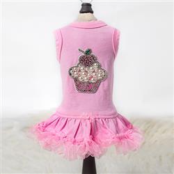 Lil Miss Cupcake Dog Dress: Pink