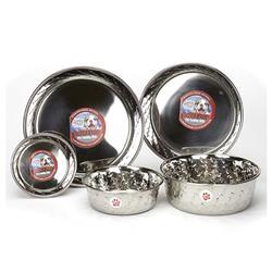 Loving Pets Ruff 'N Tuff Diamond Plate Bowls