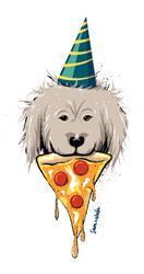 Pizza Party Vinyl Sticker