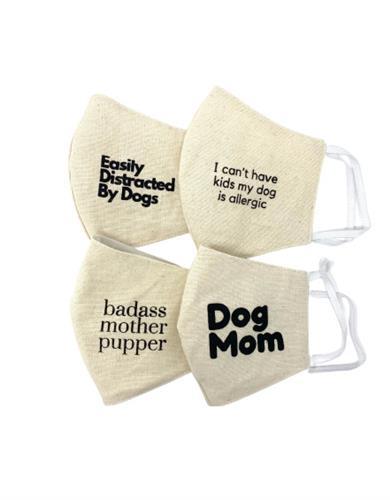 Dog Mom Reusable Cotton Face Mask