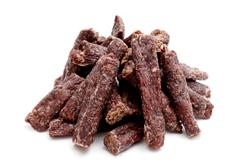 Beef Sausage Sticks Dog Treats Asst Sizes - BULK 5lbs (80 oz)