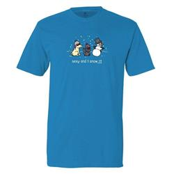 Sexy And I Snow It - Classic Tee - Royal Caribe (6 Pack)
