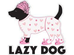 "Lazy Dog - 3"" Sticker"