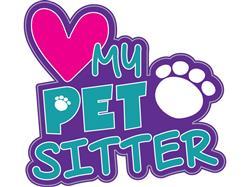 "I Love My Pet Sitter - 3"" Sticker"