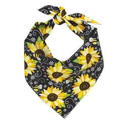 Floral Bandana, Flower Bandana, Tie Dog Bandana   Spring Bandana   Sunflower Bandana