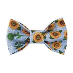 Sunflower Bow Tie, Floral Bow Tie, Flower Bow Tie, Summer Bow Tie