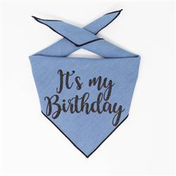 Birthday Bandana, Dog Birthday |  Birthday Dog Bandana | Happy Birthday Bandana, It's My Birthday Denim