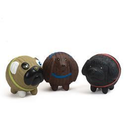 Ruff-Tex Assorted Mutt Balls (3 pack), Small (Finbar, Wally & Puggie)