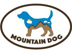 Mountain Dog - Oval Magnet