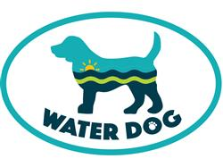 Water Dog - Oval Magnet