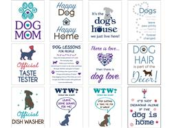 Kitchen Towel Assortment includes 2 each of 12 designs