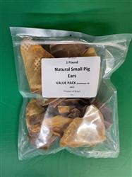 1 Pound Value Pack Small Pig Ears, 20-25 ears per pack!!
