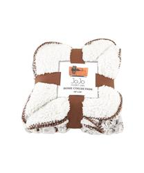 Brown Luxury Dog Blanket - Cozy Fleece and Sherpa Cover