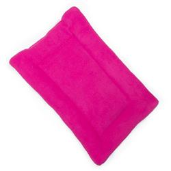 Bright Pink Solid Fleece Fabric Flat Pet Bed