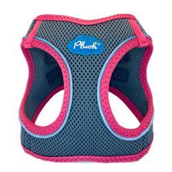 Shark Grey/Pink Plush Step In Vest Air-Mesh Harness