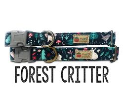 Forest Critters – Organic Cotton Collars & Leashes