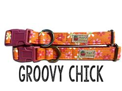 Groovy Chick – Organic Cotton Collars & Leashes