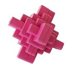 Geometric TPR Dog Chew Toy - Pink