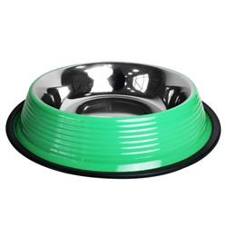 Ribbed No Tip Non Skid Bowl for Cats and Dogs - Irish Green