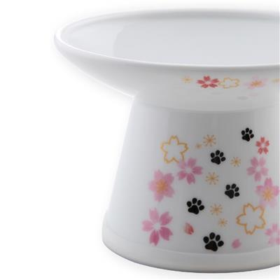 Extra Wide Raised Cat Food Bowl (2021 Sakura Limited Edition)