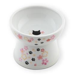 Raised Cat Food Bowl Large (2021 Sakura Limited Edition)