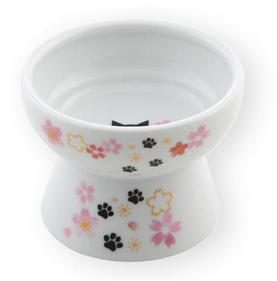 Raised Mini Cat Food Bowl (2021 Sakura Limited Edition)