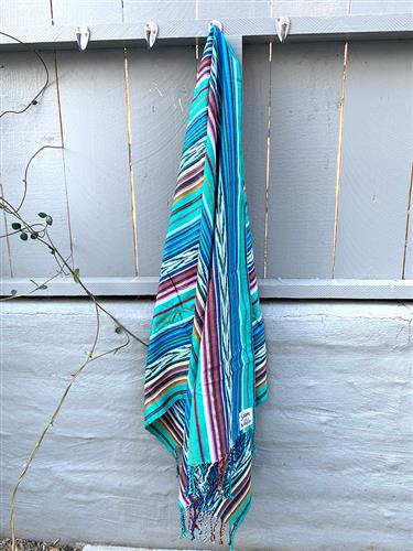 Spring Hills - Artisan Cotton Throw Blanket