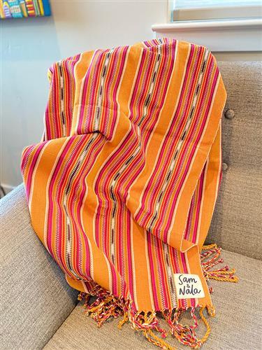 Summer Hat - Artisan Cotton Throw Blanket