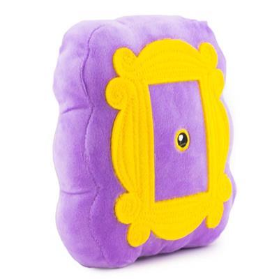 Dog Toy Plush - Friends Monica's Peephole Frame Purple/Yellows