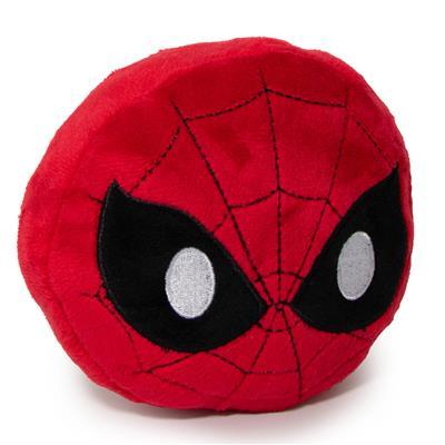 Dog Toy Squeaky Plush - Spider-Man Face Emoji Red/Black/White